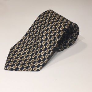 Checkered Brooks Brothers 100% Silk Tie